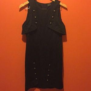 RARE Fendi military style black mini dress NWOT